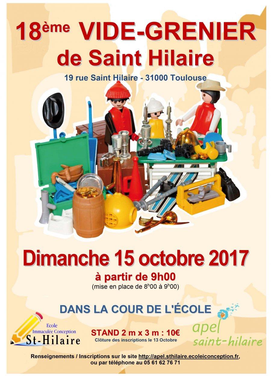 Dimanche 15 octobre 2017 18e vide greniers de saint hilaire apel saint hilaire ecole - Vide grenier dans l yonne ce week end ...